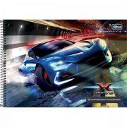 Caderno Tilibra Cartografia e Desenho Espiral Capa Dura X-racing - 80 Folhas - Capas Sortidas