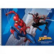 Caderno Tilibra Cartografia e Desenho Milimetrado Espiral Capa Dura Spider-man - 80 Folhas