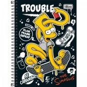 Caderno Tilibra Espiral Capa Dura Pequeno Simpsons 80 Folhas
