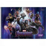 Caderno Tilibra Espiral Capa Dura Cartografia e Desenho Avengers Infinity War - 80 Folhas