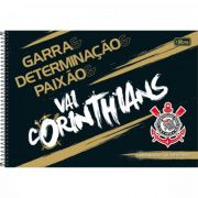 Caderno Tilibra Espiral Capa Dura Cartografia e Desenho Corinthians - 80 Folhas