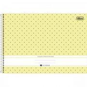 Caderno Tilibra Espiral Capa Dura Cartografia e Desenho Milimetrado Académie Feminino - 80 Folhas