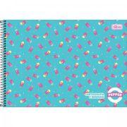 Caderno Tilibra Espiral Capa Dura Cartografia e Desenho Pepper - 80 Folhas