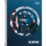 Caderno Tilibra Espiral Capa Dura Colegial 1 Matéria Avengers Heroes - 80 Folhas