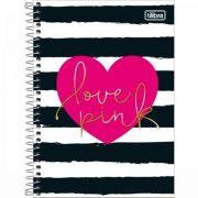 Caderno Tilibra Espiral Capa Dura Pequeno Love Pink 80 Folhas - Capas Sortidas