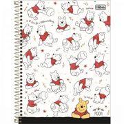 Caderno Tilibra Espiral Capa Dura Universitário 10 Matérias Pooh - 160 Folhas