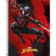 Caderno Tilibra Espiral Capa Dura Universitário 10 Matérias Spider-man Light - 160 Folhas