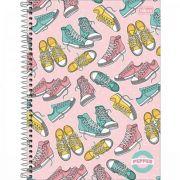 Caderno Tilibra Espiral Capa Dura Universitário 12 Matérias Pepper Feminino - 192 Folhas - Capas Sortidas