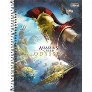 Caderno Tilibra Espiral Capa Dura Universitário 16 Matérias Assassin's Creed - 256 Folhas