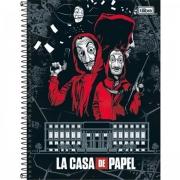 CADERNO TILIBRA ESPIRAL CAPA DURA UNIVERSITÁRIO 1 MATÉRIA LA CASA DE PAPEL 80 FOLHAS - CAPAS SORTIDAS