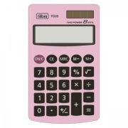 Calculadora de Bolso Tilibra 8 Dígitos Grande Tc03 Rosa Claro