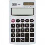 Calculadora Tilibra de Bolso 8 Dígitos Grande Tc03 Branca