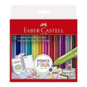 Caneta Faber Castell Hidrográfica 12 Cores 0,4mm