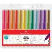 Caneta Faber Fine Pen Colors Hidrográfica 0.4 Com 12 Cores