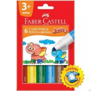 CANETINHA FABER-CASTELL JUMBO - 6 CORES