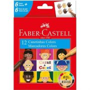 Canetinha Hidrografica Faber Castell Caras & Cores - 6+6 Cores