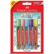 Cola Colorida Com Glitter Faber Castell - 9,5g Cada