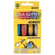 COLA GLITER 4 CORES ACRILEX