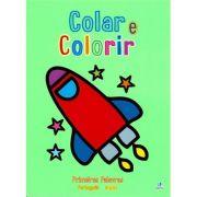 Colar e Colorir - Primeiras Palavras - Foguete
