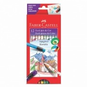 Ecolápis Faber-castell 12 Cores Apagável Com Borracha