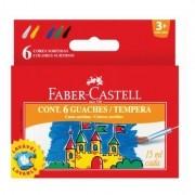 Guache Faber-castell Lavável - 6 Cores