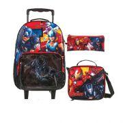 Kit Dmw Mochilete Lancheira e Estojo Avengers