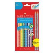 Lápis de Cor 12 Cores + 2 Lápis de Escrever Faber Castell