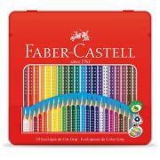 Lápis de Cor 24 Cores Triangular Lata Faber Castell