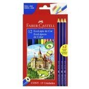 Lápis de Cor Ecolápis 12 Cores + 3 Ecolápis Grafite Faber-castell - 120112+3gr