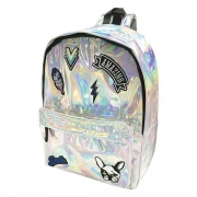 MOCHILA COSTAS KIT PATCH HOLOGRAFICA