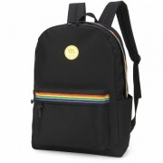 MOCHILA COSTAS LUXCEL UP4YOU G ARCO-ÍRIS - PRETO