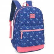 MOCHILA COSTAS LUXCEL UP4YOU G FLAMINGO - AZUL