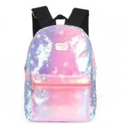 MOCHILA COSTAS LUXCEL UP4YOU LARISSA MANOELA PAETE PINK