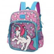 MOCHILA DE COSTAS LUXCEL UP4YOU UNICORNIO - AZUL E LILAS