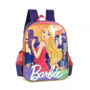 MOCHILA LUXCEL BARBIE GIRL POWER - ROXO E ROSA