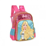 MOCHILA LUXCEL UP4YOU BARBIE GLITTER - VERDE