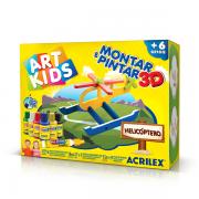 MONTAR E PINTAR 3D HELICÓPTERO ACRILEX