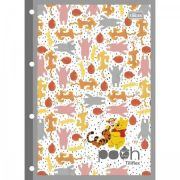 Refil Para Caderno Argolado Universitário Pooh - 80 Folhas