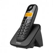 Telefones Sem Fio Ts 3110 Preto Com Identificador de Chamadas