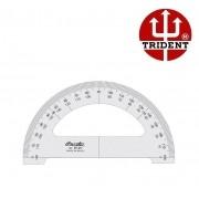 Transferidor Trident 180° Acrílico 3mm 20 Cm