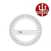 Transferidor Trident 360° Acrílico 3mm 20 Cm