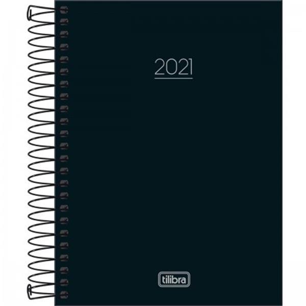 AGENDA ESPIRAL DIÁRIA PEPPER PRETA 2021 - 1 UNIDADE
