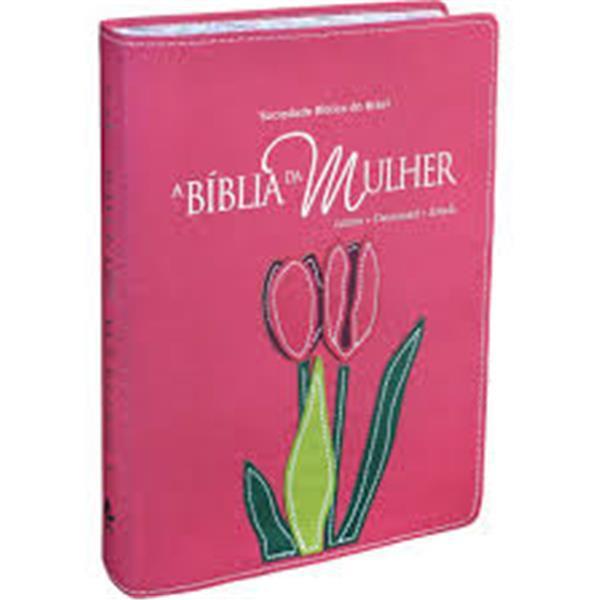BIBLIA DA MULHER, A - BORDAS FLORIDAS - ROSA - SBB