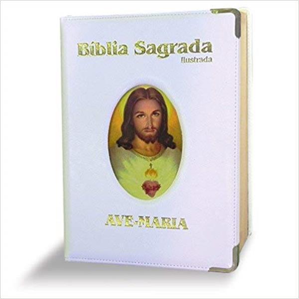 BÍBLIA SAGRADA: ILUSTRADA - GRANDE - BRANCA
