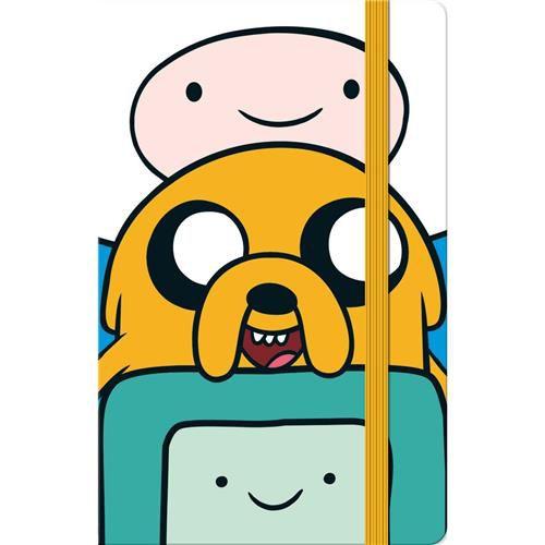 Caderneta Capa Dura Costurada Fitto Adventure Time - 80 Folhas