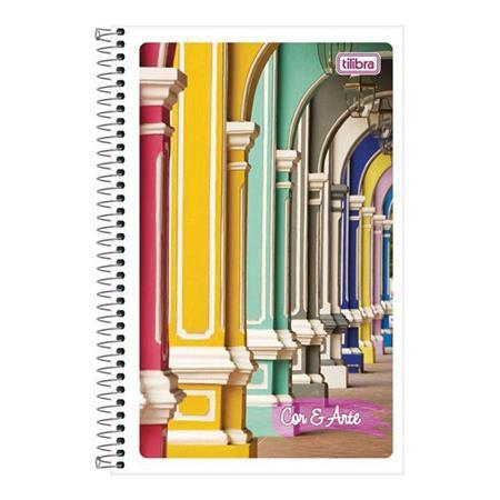Caderneta Espiral Capa Flexível Cor e Arte - 96 Folhas - Capas Sortidas