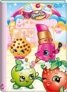 Caderno Brochura Pequeno Capa Dura Shopkins - 96 Folhas