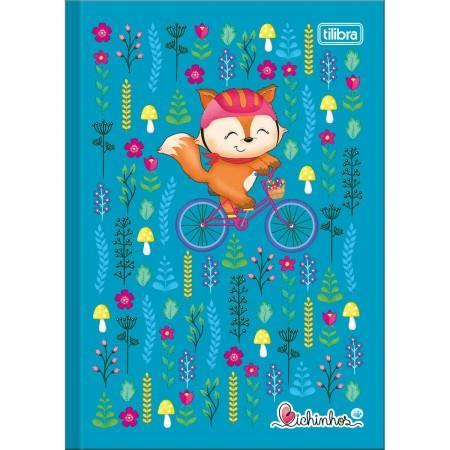 Caderno Brochura Capa Dura Pequeno Bichinhos 96 Folhas