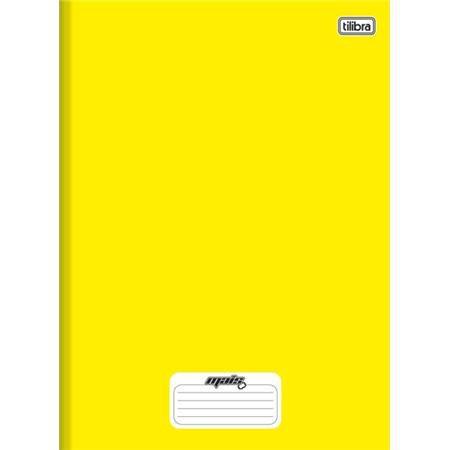 Caderno Brochura Capa Dura Pequeno Mais+ Amarelo 96 Folhas