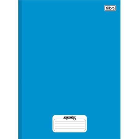 Caderno Brochura Capa Dura Pequeno Mais+ Azul 96 Folhas